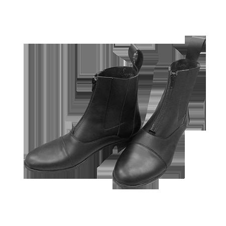 Ботинки  на молнии на натур.меху (овчина) К
