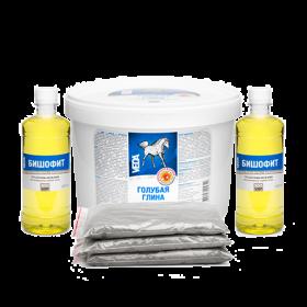 Глина + Бишофит (Голубая глина 1,5кг + Бишофит 2фл по 500мл)