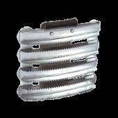 Скребница EQUIMAN металлическая  с ремешком 1006