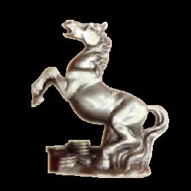 Лошадь/подставка 13см с жемчужиной 21114