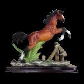 Лошадь на подставке в прыжке 23х21см 7085