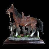 Лошадь (заборе) 19х20см 7086