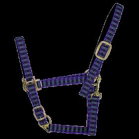 Недоуздок нейлон  в клетку с бархатной  подложкой EQUIMAN