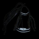 Оголовье с дутым налобником и цветной подложкой, капсюль затяжка (БГ)