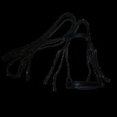 Оголовье с дутым налобником и цветной подложкой, капсюль-затяжка (БГ)