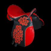 Седло для пони цветное с камнями (с лукой)